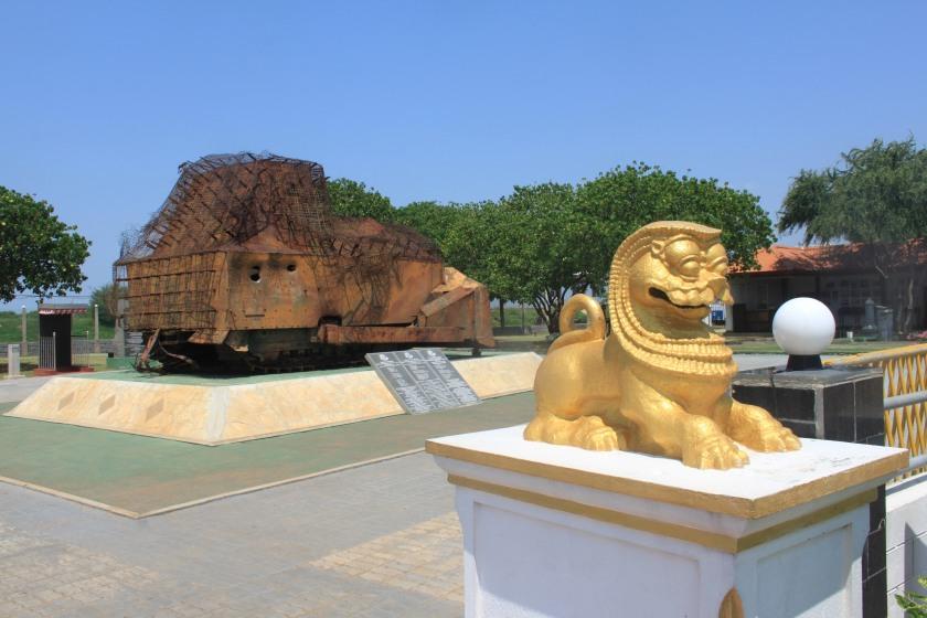 LTTE bulldozer memorial, Elephant Pass