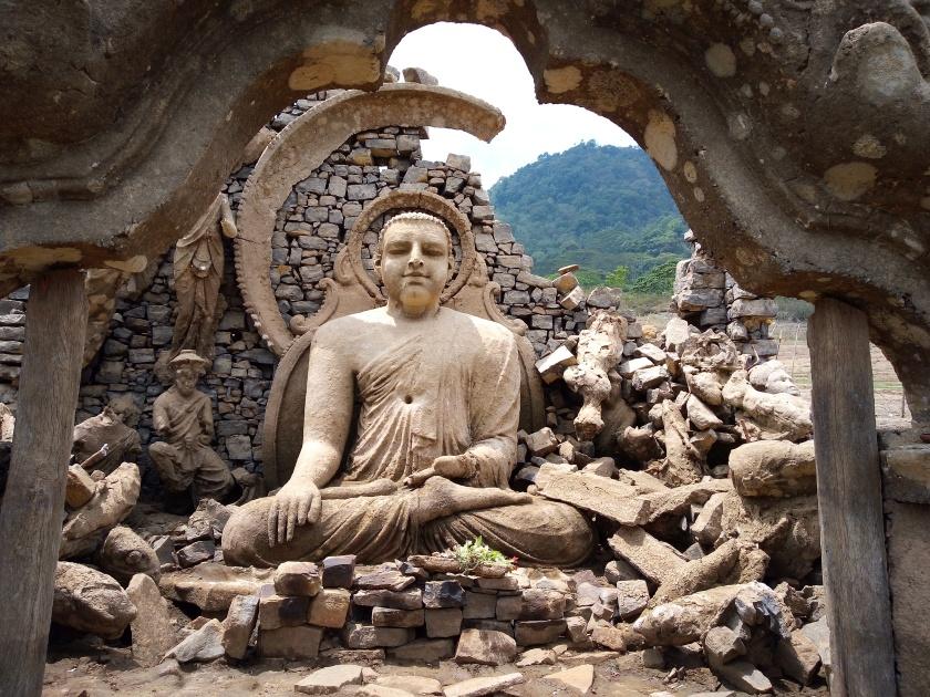 Sunken Buddhist temple, Kotmale -1